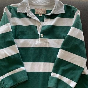 Abercrombie Rugby Polo Dress in Green Stripe